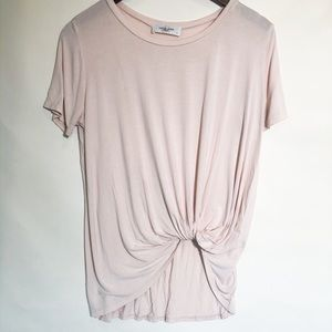 Carly Jean Basic Knotted Tee